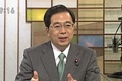 見解を述べる斉藤政調会長=7日 テレビ画面から撮影