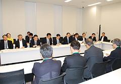 日本道路建設業協会より予算、税制の要望を受ける