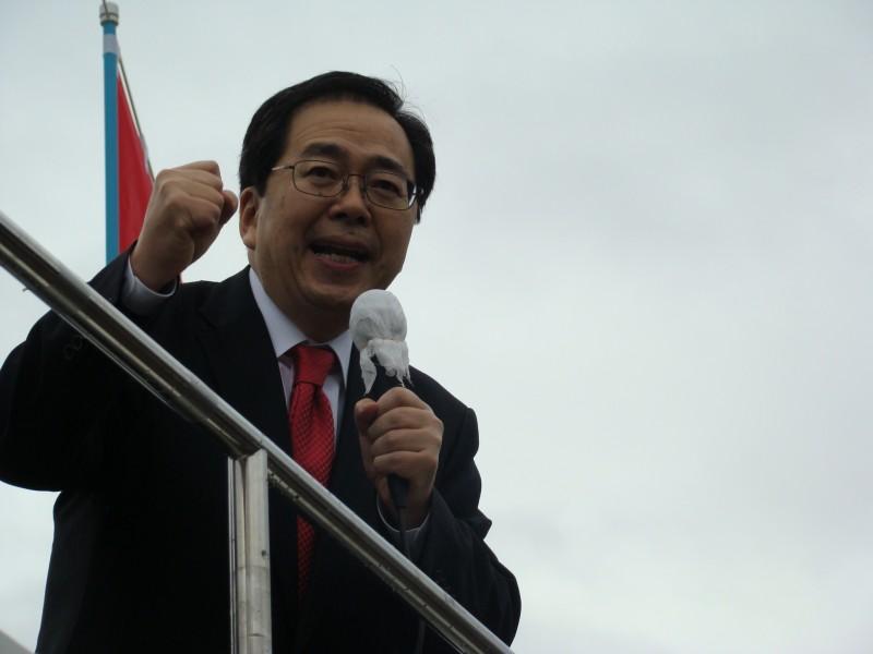 衆院選、勝利への決意を述べる 斉藤鉄夫