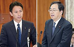 質問する 斉藤鉄夫と谷合正明参院議員